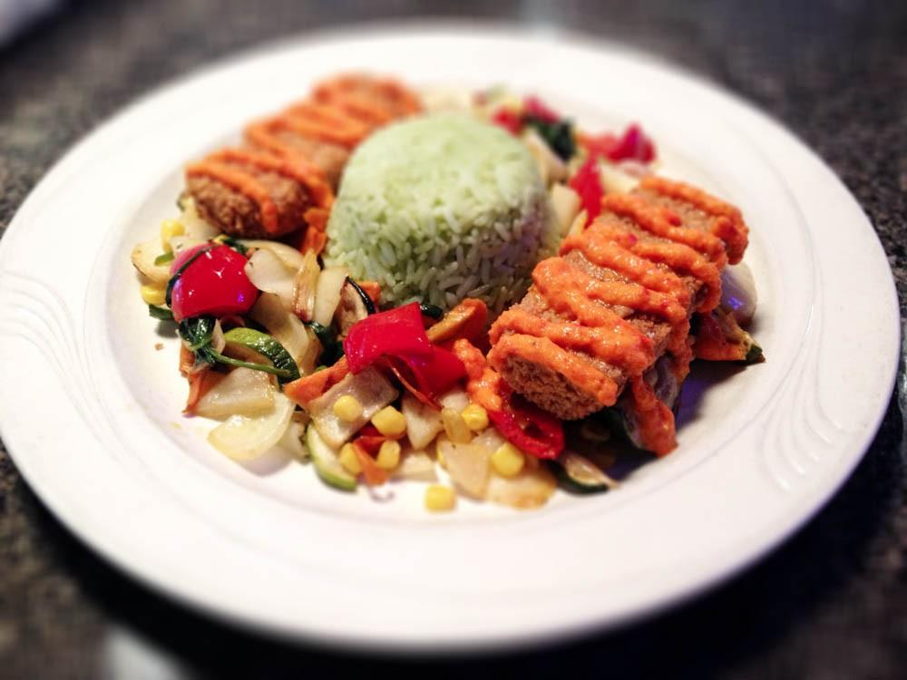 Alamo Cantina Restaurant - Phoenicia NY - spring tofu