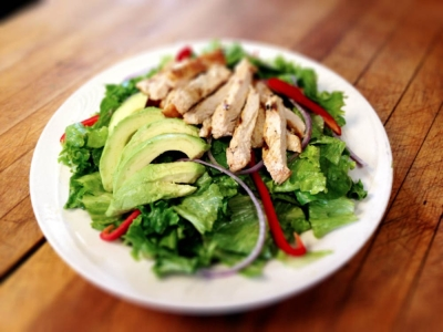 Alamo Cantina Restaurant - Phoenicia NY - Avocado Salad with Chicken