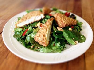 Alamo Cantina Restaurant - Phoenicia NY - Spring Tofu Salad